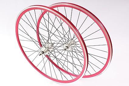 KHE Juego de ruedas Fixie 700 C 28 Rodamientos industriales ...