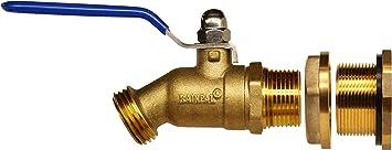 RAINPAL RBS024 Brass Rain Barrel Spigot (Lead Free Compliant 3/4