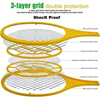 Captolife Mosquito Killer Swatter Zapper Bat Racket 100% Environment Friendly Shock Proof Safe for Human, Pets | Color Assorted