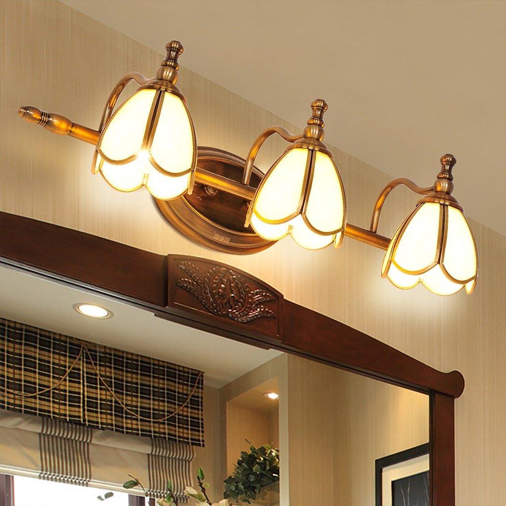 Ali American LED miroir lampe frontale salle de bain réplique rétro rétro miroir de maquillage ( Couleur : 3 Head