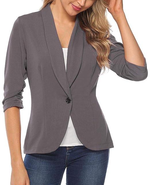 Amazon.com: iClosam Blazer - Chaqueta de trabajo para mujer ...