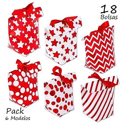 Starplast Pack 6 Paquetes Cajas para Regalo Rojo Metalizado ...