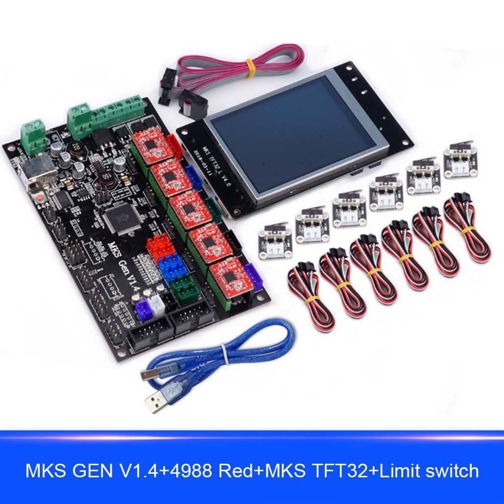 ZREAL 1537/5000 Per MKS GEN V1.4 Compatibile con display TFT32 Driver motore 4988 con kit di stampa 3D con interruttori di finecorsa 1mb4bm6et5rm4qf0D01