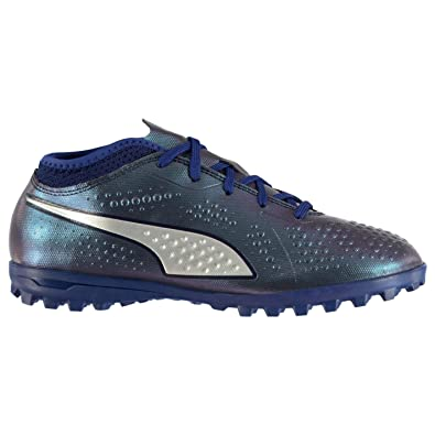 94f3067a92a0 Image Unavailable. Image not available for. Color  Puma ONE 4 Astro Turf  Football Trainers Childs Soccer ...