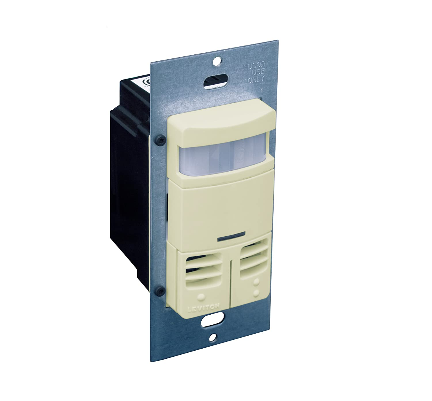 Leviton OSSMD-MDW Dual-Relay, Multi-Technology Wall Switch Sensor ...