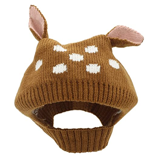 Amazon Com Baby Hat Scarf Winter Warm Earflap Hats Hooded Scarf