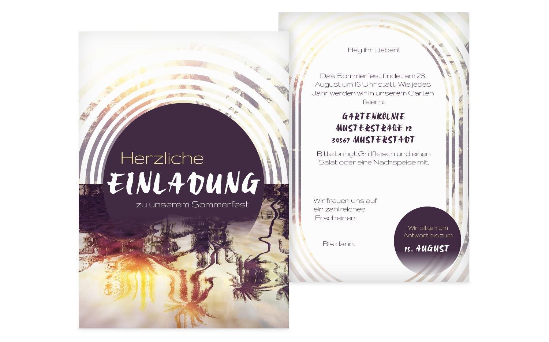 Einladung Sommerfest Sonnenaufgang, 60 Karten, HellgrauLila B074498DLV | Erste Qualität  | Online Shop Europe  | Economy