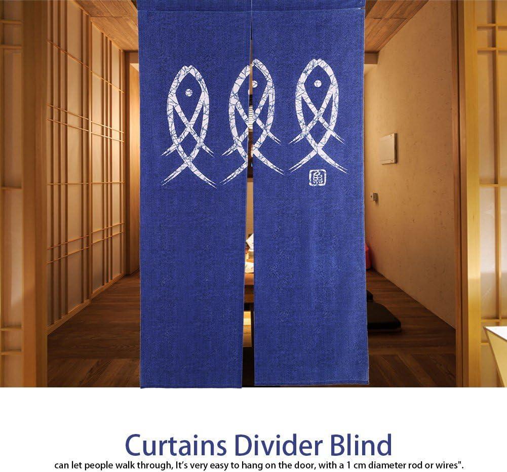 Fish Printed Doorway Room Door Curtains Divider Blind Living Room Kitchen Decor Doorway Curtain