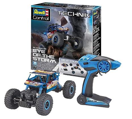 Revell Control Technik 24712 RC Car Konstruktionsbausatz Crawler 27,5 cm ferngesteuertes Auto zum Selberbauen 2.4GHz Off-Road-Reifen Do-It-Yourself blau 4WD Allradantrieb