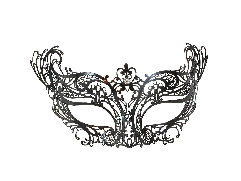 Metal Filigree Mask With Original Swarovski/® Rhinestones Onda La Fucina dei Miracoli
