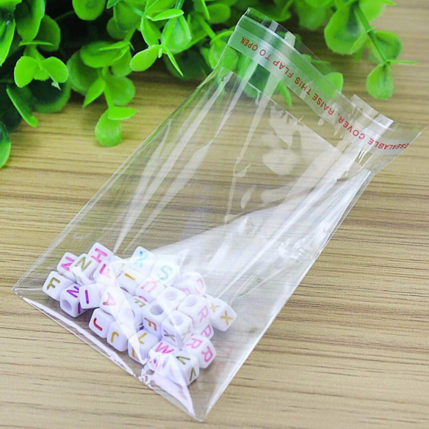 100 Clear /& Transparent Plastic Bags Grip Peel /& Seal Strong Packing Self Adhesive Cellophane Bags Small Size 2 X 4