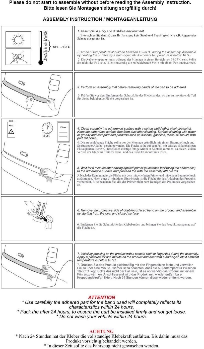 Protection de seuil de chargement pour pare-chocs Expert /à partir de 2017 en aluminium avec bord