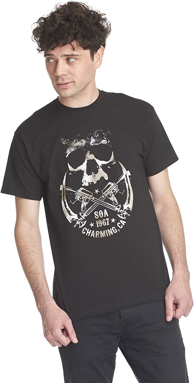 Sons of Anarchy Skull and Sickle T-shirt zwart