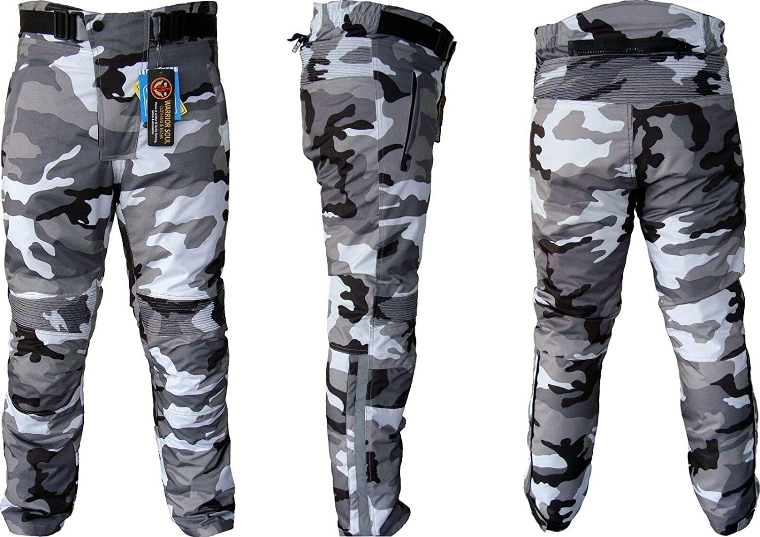 34 /× 31 Color NEW Motorcycle Camouflage Waterproof Motorbike Motocross Textile Armour Trouser Size Army Blue Camo