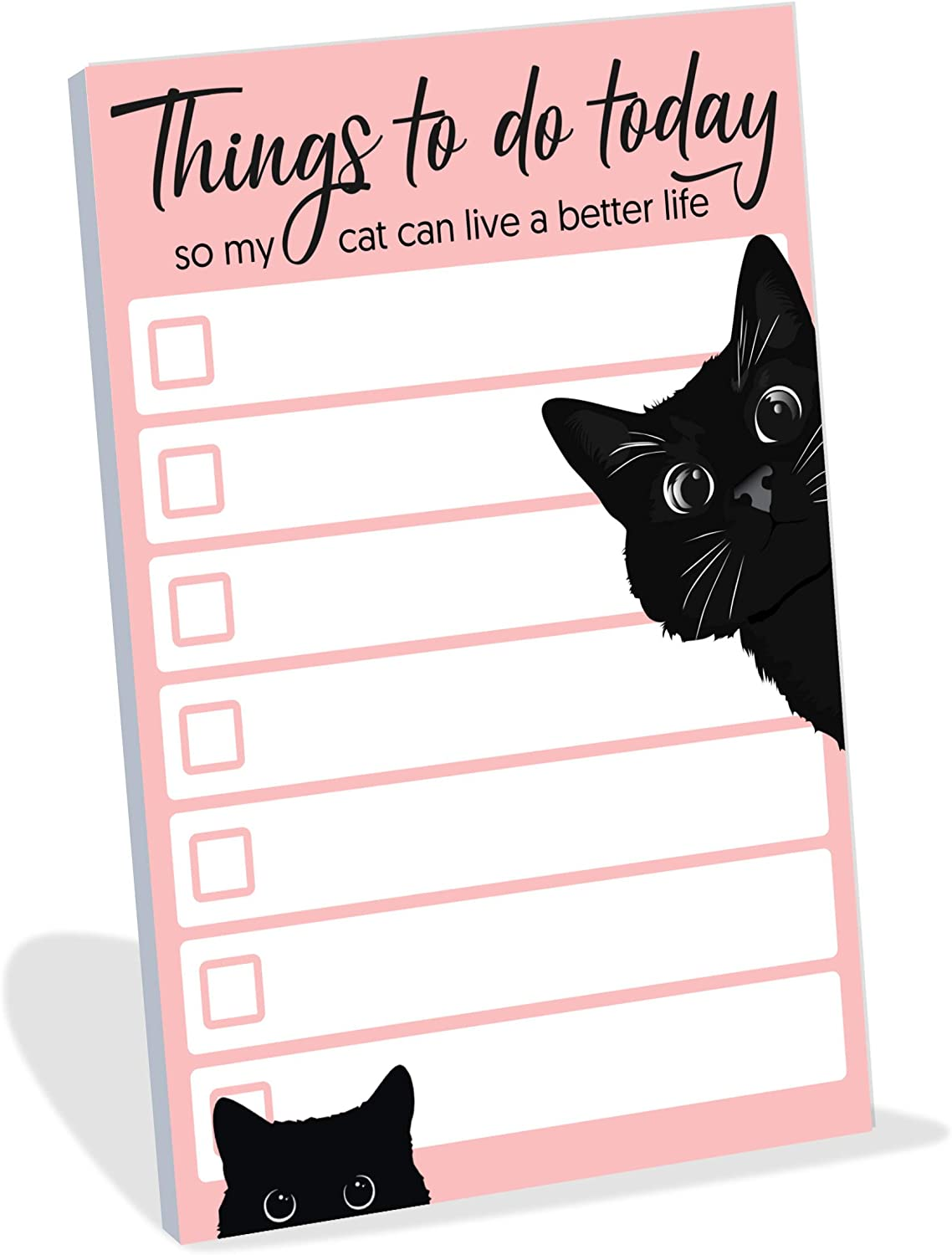 "Funny Cat Small to Do List Sticky Notes | Things to Do Today So My Cat Can Live a Better Life | Black Cat Humor Notebook Notepad Note Card for Cat Lover Gift| 50 Pages 4x6"" by Daily Ritmo"
