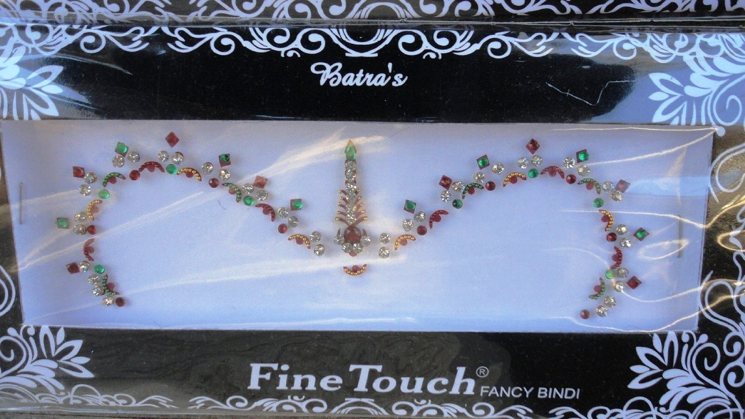 1 Large Pack Bollywood Head Bindi Tattoo Indian Art Rhinestone Stick On Reusable (A)