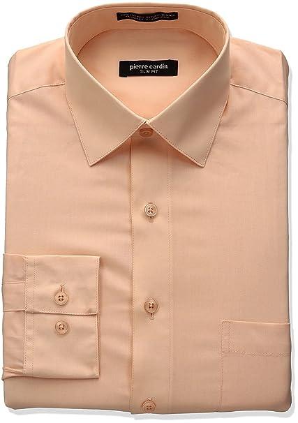 Pierre Cardin Men S Slim Fit Long Sleeve Solid Dress Shirt Colors