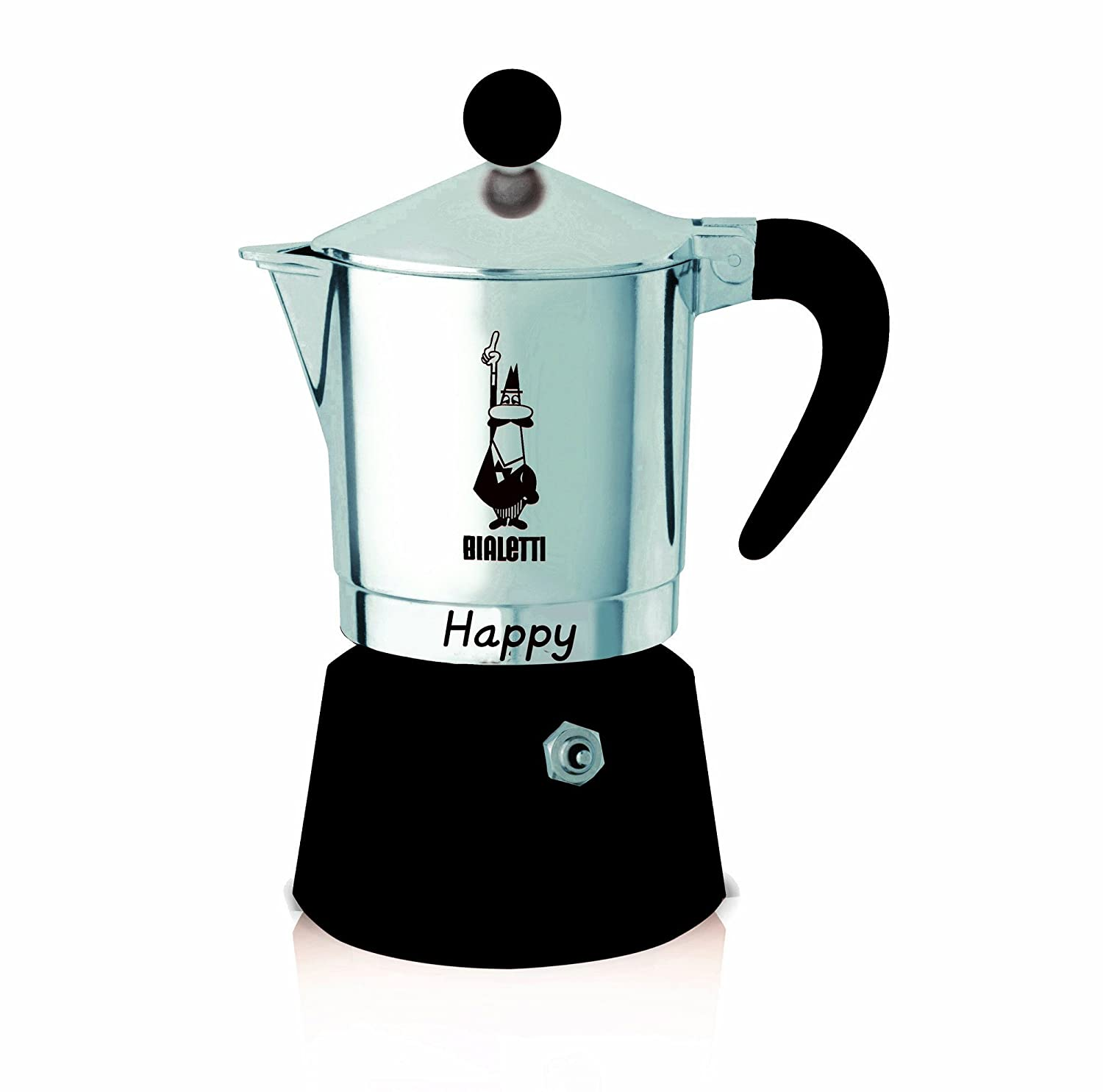 Bialetti 0008012 Happy With 3 Cups Aluminium Coffee Maker
