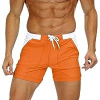 KEFITEVD Sneldrogende zwemshorts voor heren Beach Short Board Spa Trunks Stretchy Gym Shorts Briefs met verstelbare…