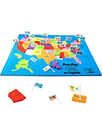 Imagimake: Mapology USA with Capitals- Learn USA States Along with Their Capitals and Fun Facts- Fun Jigsaw Puzzle...