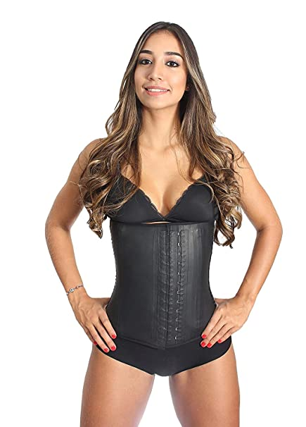 2fbed8094d Latex Waist Trainer Cincher Women Corset Tummy Control Shapewear Adjustable  Straps Body Slimmer 3 Hooks Rows