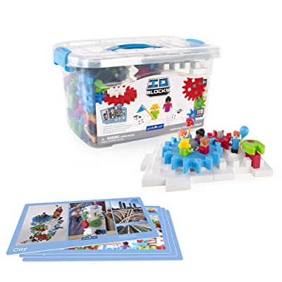 Guidecraft 118 Piece IO Blocks Tabletop Construction Play Set: Toys & Games