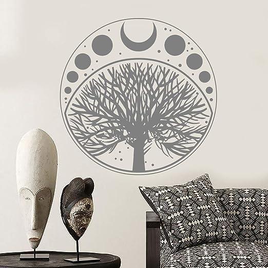 Luna Fase Ciclo árbol de la Vida símbolo Etiqueta Vinilo Tatuajes ...