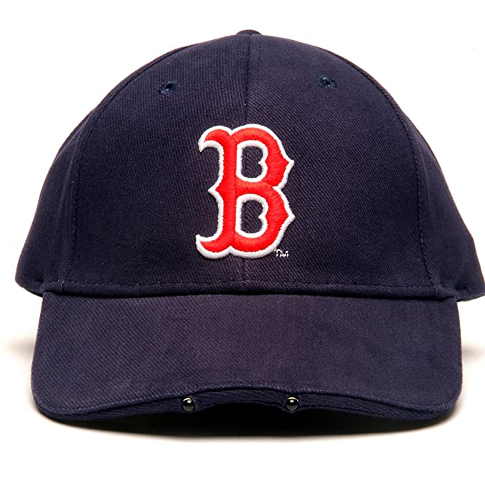 check out c21bd 7f94b Amazon.com   MLB Boston Red Sox Dual LED Headlight Adjustable Hat   Sports  Fan Novelty Headwear   Sports   Outdoors