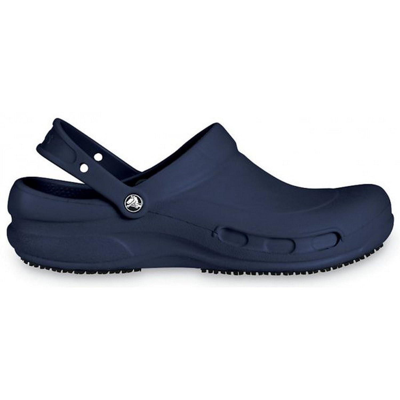 Crocs Bistro - Zuecos con forro y correa unisex, 43 EU|Azul Marino