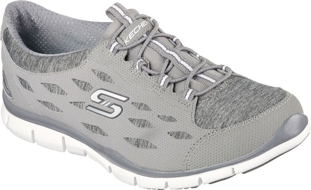 Skechers Gratis Hit it Big Damen Sneaker Slip on Memory Foam Grau 22605  37.5 EU|Gray