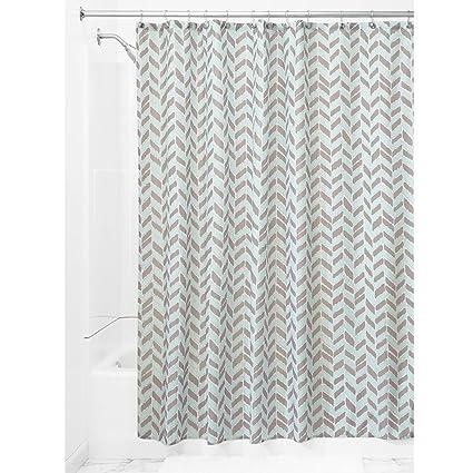 InterDesign Nora Fabric Shower Curtain 72 X Taupe Mint