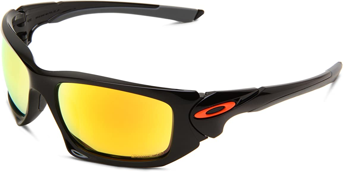 b67d7add8 Oakley Mens Scalpel OO9095-15 Iridium Rectangle Sunglasses,Polished Black  Frame/Fire Lens