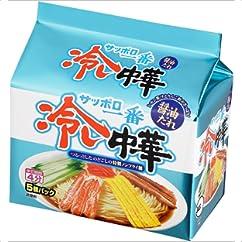 【ラーメンの新商品】サッポロ一番 冷し中華 醤油だれ 5個パック 600g×6個