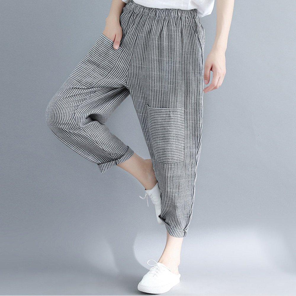 ZYUEER Nuovi Pantaloni Larghi alla Caviglia Casual Allentati