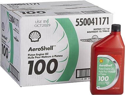 Aeroshell aceite 100 SAE grado 50 recto Mineral aceite de aviones ...