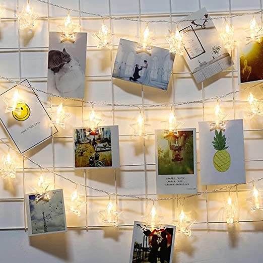 20 Led Photo Clips String Lights Batterypeg Lights Indoorwall