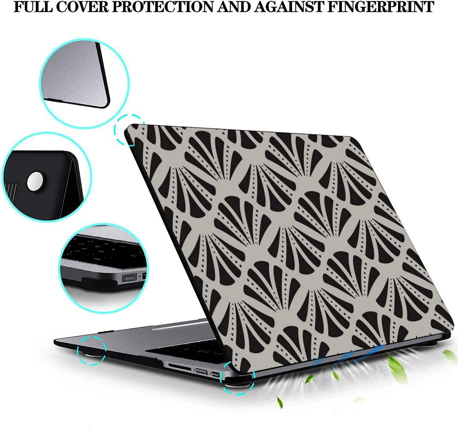 MacBook Pro 15in Case Summer Seaside Seashells Starfish Plastic Hard Shell Compatible Mac Air 11 Pro 13 15 MacBook Air Computer Case Protection for MacBook 2016-2019 Version