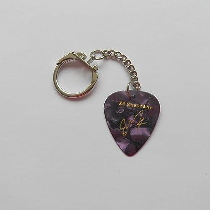 Ed Sheeran autógrafo impreso, serie Legend, púa de guitarra ...