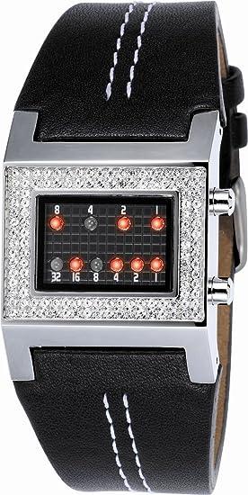 Binary THE ONE Kerala Trance Lady - Reloj digital de mujer de cuarzo con correa de piel negra - sumergible a 30 metros: Amazon.es: Relojes