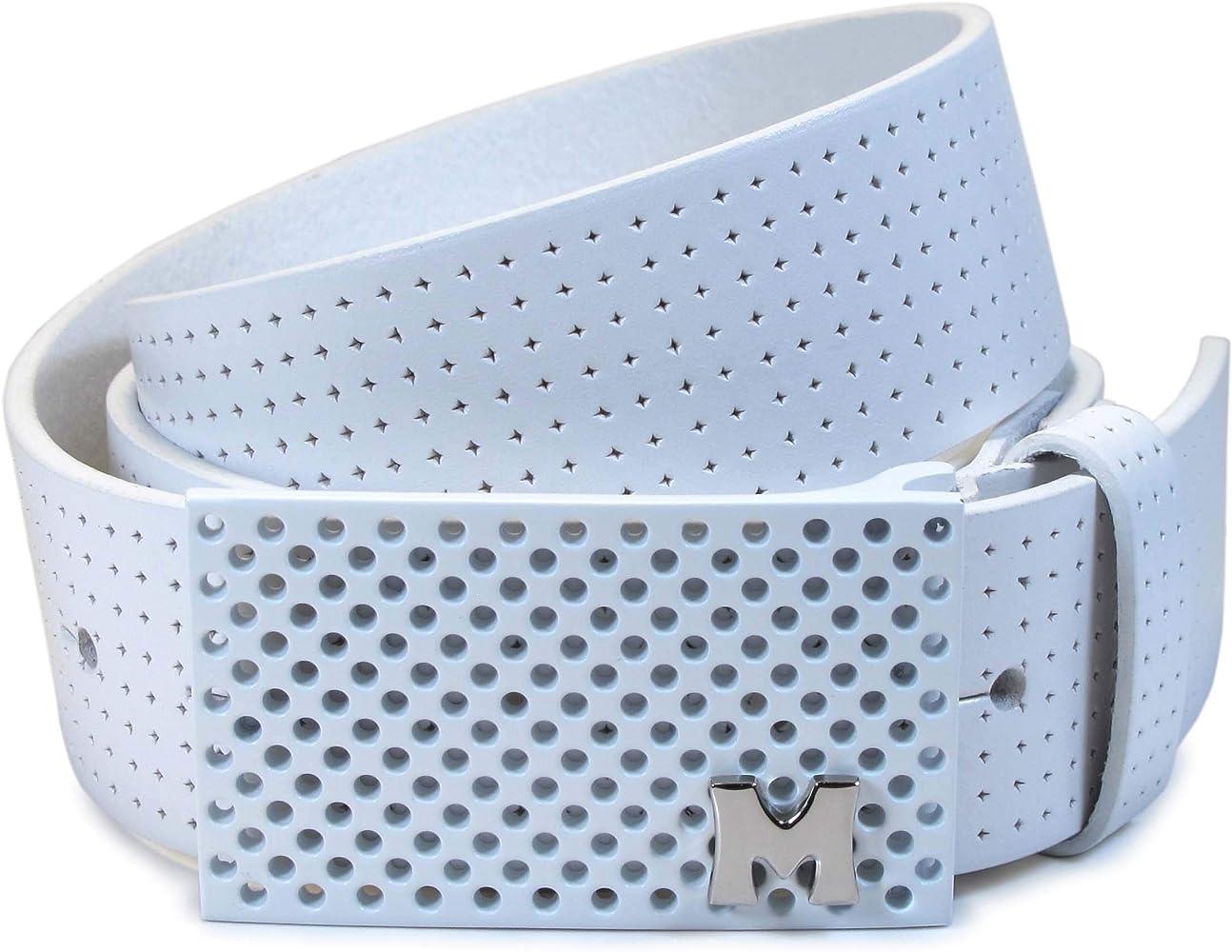CW1-143) Mujer Cinturón Blanco 100% Cuero Real 28, 30, 32 ...