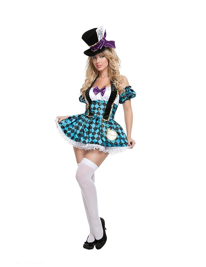 amazoncom starline sexy womens mad hatter costume set clothing