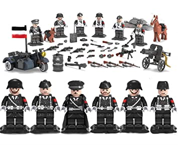 Mini 6 Allemande Unité De Armée Avec Figures Pièces Ss Ww2 Figurines OkXZTPiu