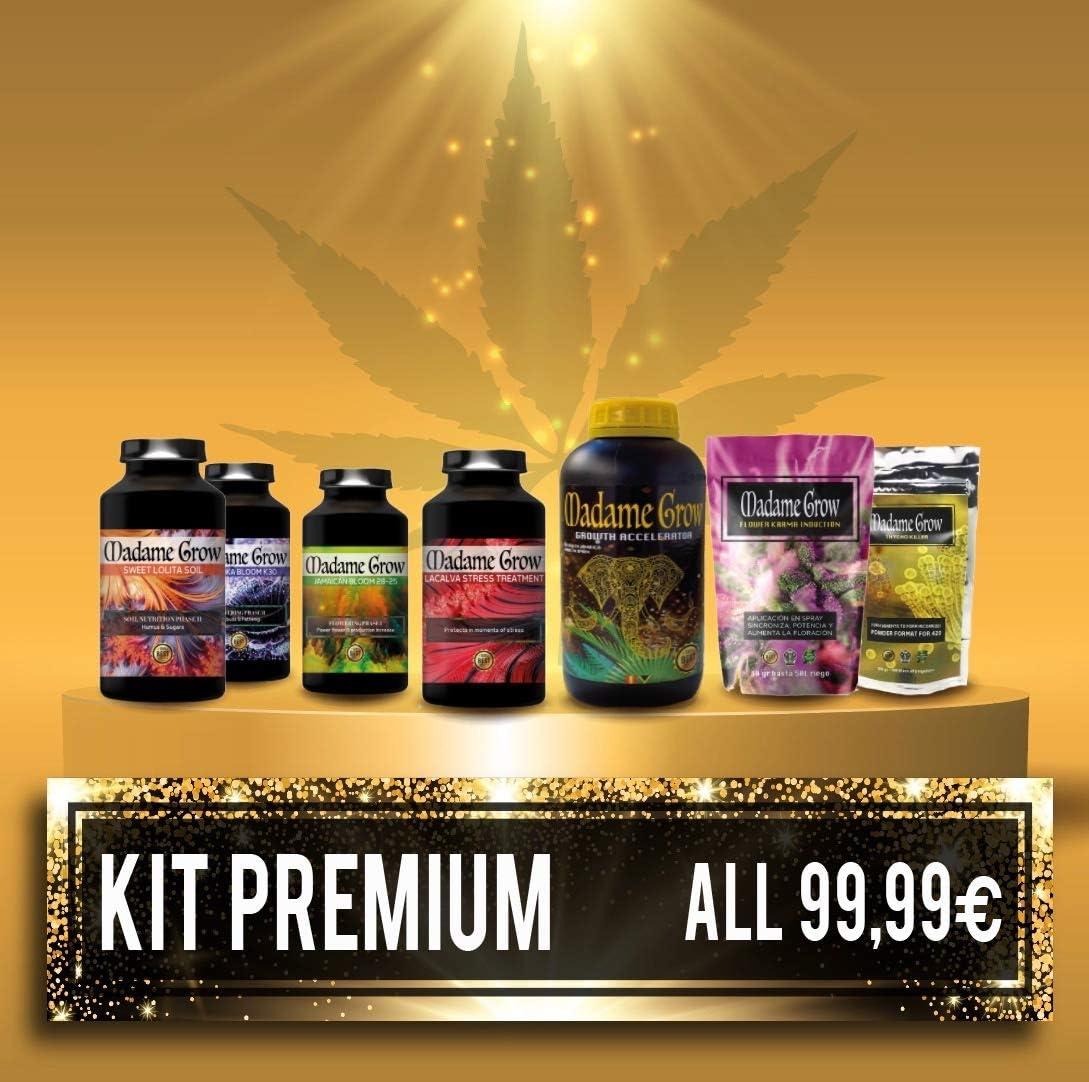 MADAME GROW ⭐️⭐️⭐️⭐️⭐️ Kit Premium 7PACK Consigue la Gama Completa de los Mejores Orgánicos para el Ciclo Completo de tú Planta de Marihuana o Cannabis Ahorra mas del 40% - 6 X 250 ml + 30 GR