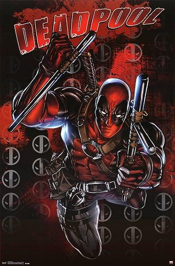 Amazon.com: Deadpool Comics Poster 22 x 34in: Posters & Prints