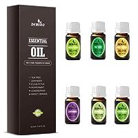 Aromatherapy Essential Oils Kits - DEBORO 100% Pure Therapeutic Grade Gift Sets for Oil Diffuser, Massage including Tea Tree/Peppermint/Sweet Orange/Lavender/Eucalyptus/Lemongrass