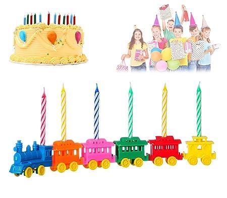 565111 Set porta velas en forma de tren 6 piezas incluye ...