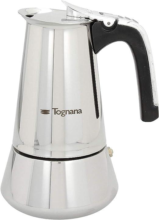 Tognana Riflex - Cafetera de inducción (4 tazas, acero inoxidable ...