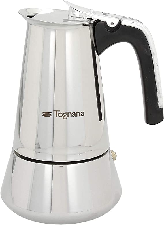 Tognana Riflex - Cafetera de inducción (4 tazas, acero inoxidable), color plateado: Amazon.es: Hogar