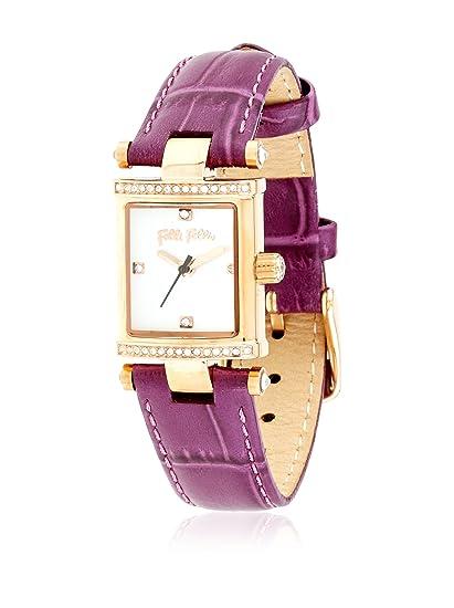 Folli Follie Reloj con movimiento Miyota Woman Slog-Square Logic 20 mm: Amazon.es: Relojes