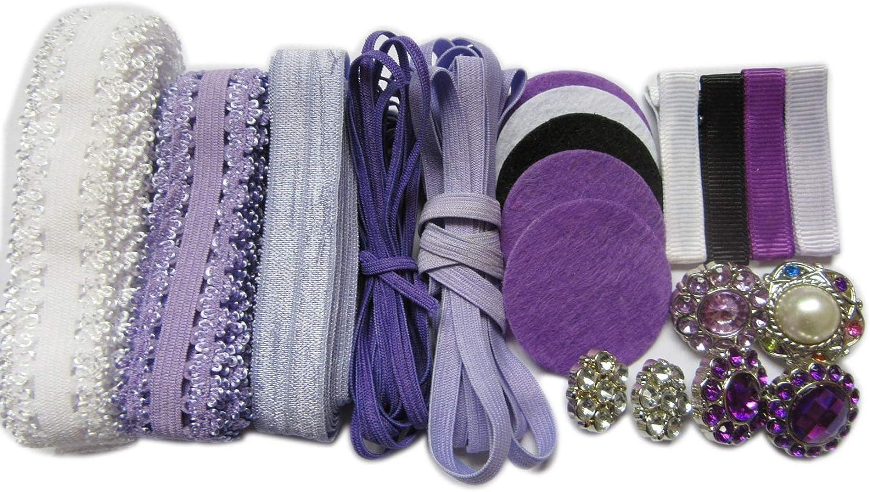 YYCRAFT Pack of 30 Chiffon Flower 1.5 Hair Flower Headband-Mix Color